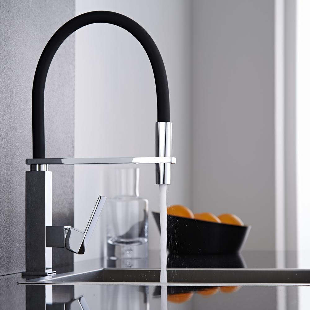 Mitigeur cuisine noir avec douchette design - Mitigeur cuisine retro avec douchette ...