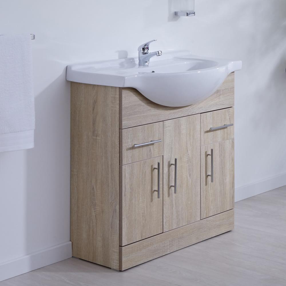 Meuble-lavabo 75x78x48cm Classic Oak