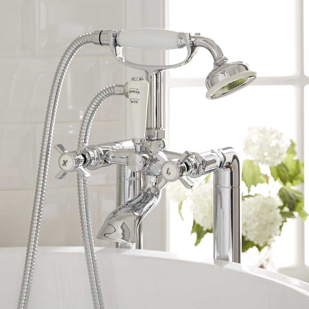 Robinet bain douche rétro - sur colonnes - Victoria