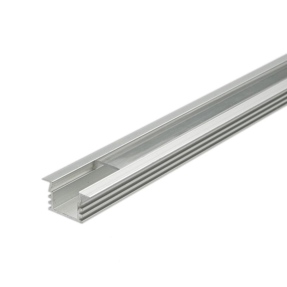 Biard Profilé alu encastrable LED Rectangulaire 100cm - Lot de 5