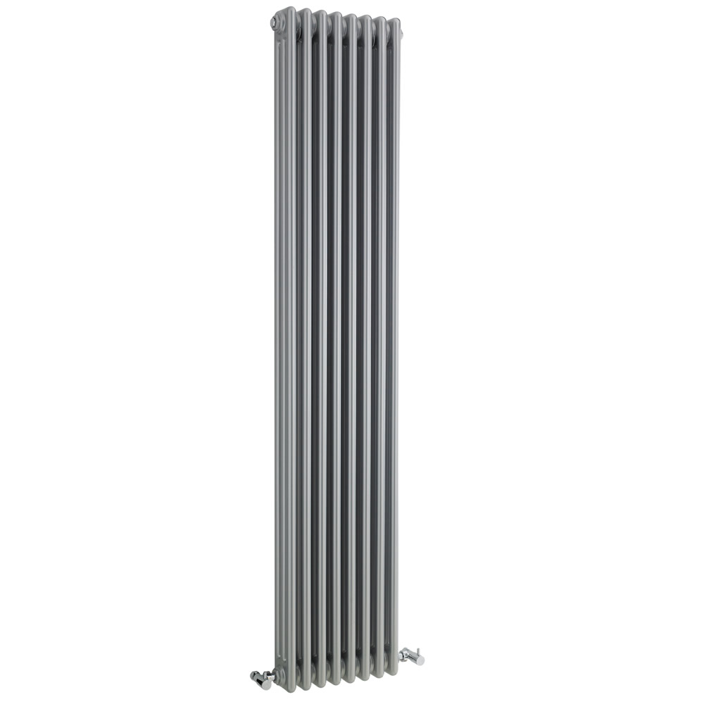 Radiateur Vertical Style Fonte Argent Windsor 180cm x 38,1cm x 10cm 1558 Watts