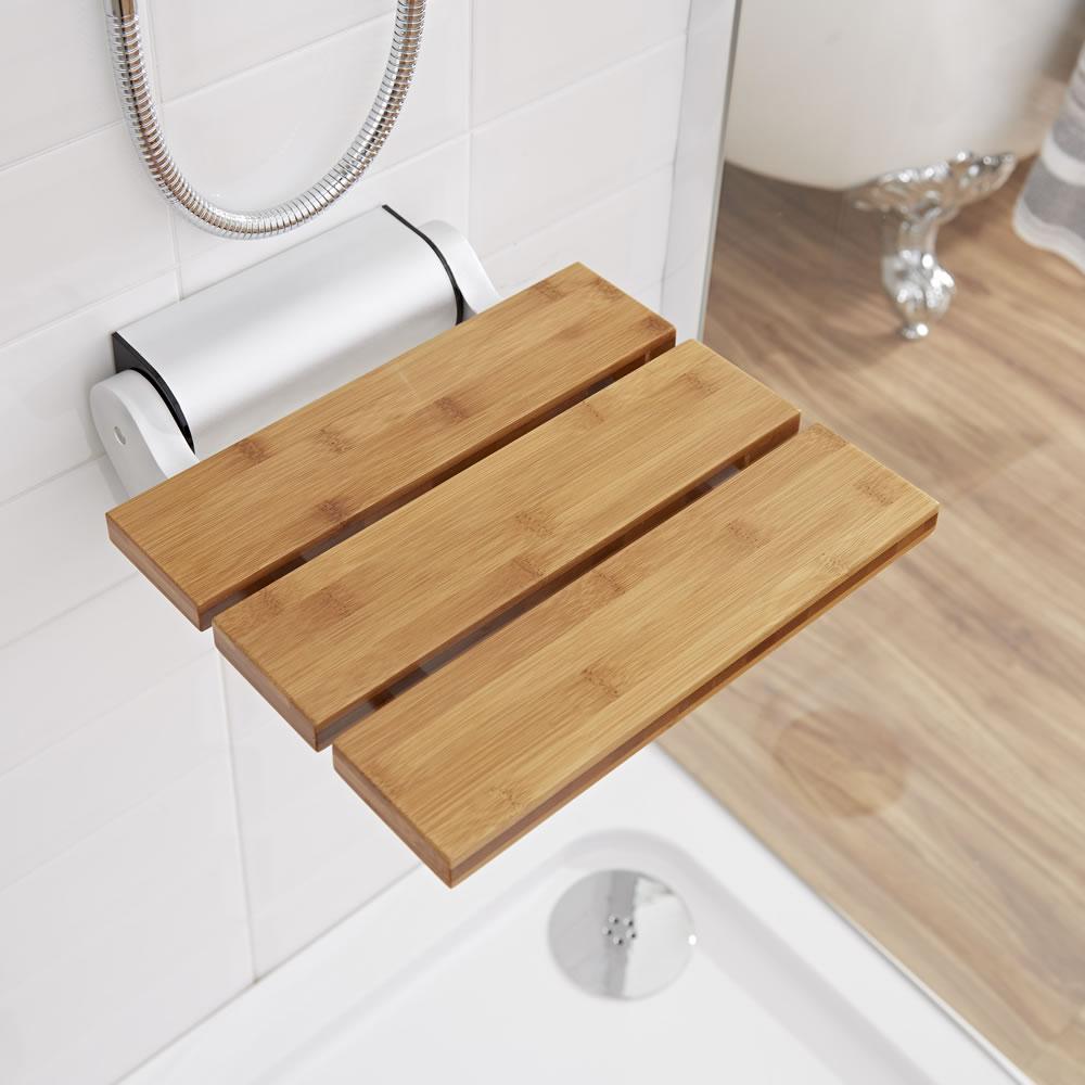 Siège de douche en Bambou