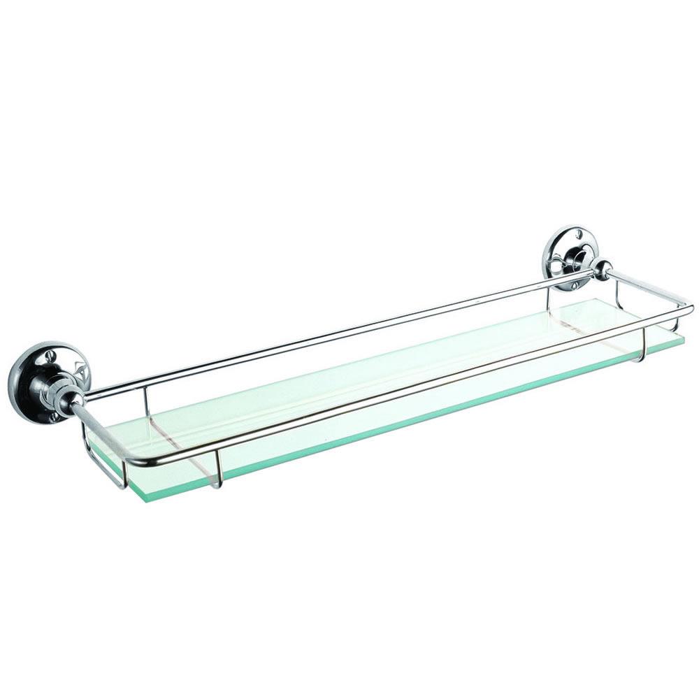 Étagère salle de bain verre & chrome Ambience