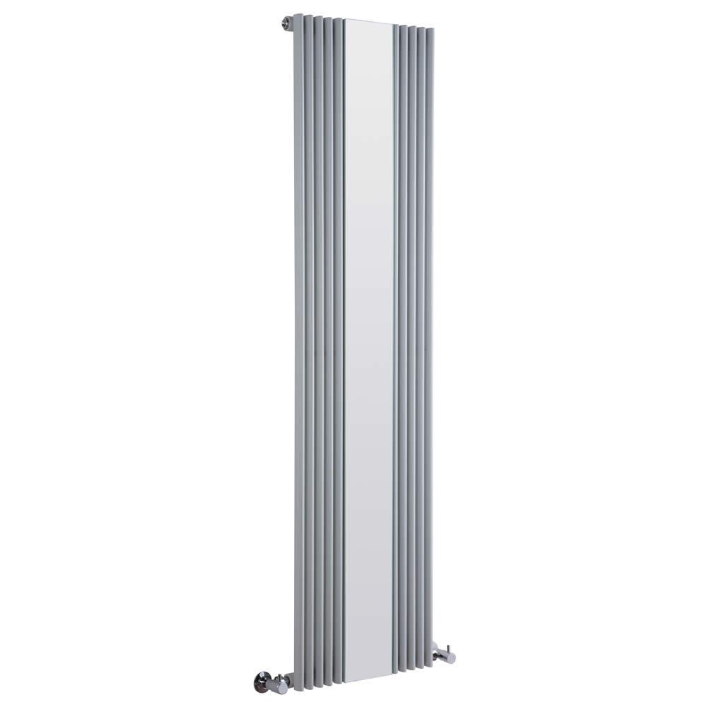 radiateur design vertical avec miroir argent keida 160cm x 42cm x 6 3cm 840 watts. Black Bedroom Furniture Sets. Home Design Ideas