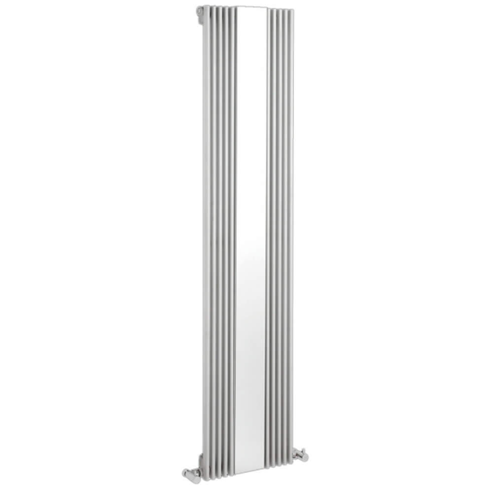 radiateur design vertical avec miroir blanc keida 160cm x 42cm x 6 3cm 840 watts. Black Bedroom Furniture Sets. Home Design Ideas