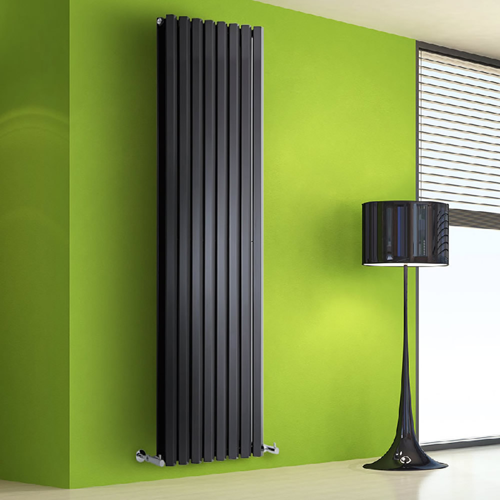 Radiateur Design Vertical Noir Salisbury 178cm x 56cm x 8,6cm 2158 Watts