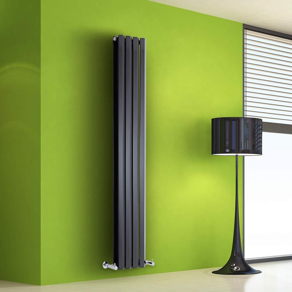 Radiateur Design Vertical Noir Salisbury 160cm x 28cm x 8,6cm 983 Watts