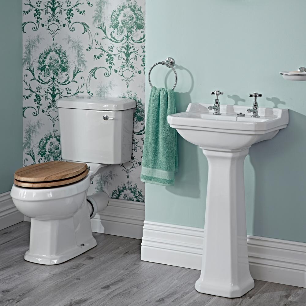 Lavabo 50cm & WC - Rétro - Choix d'abattant
