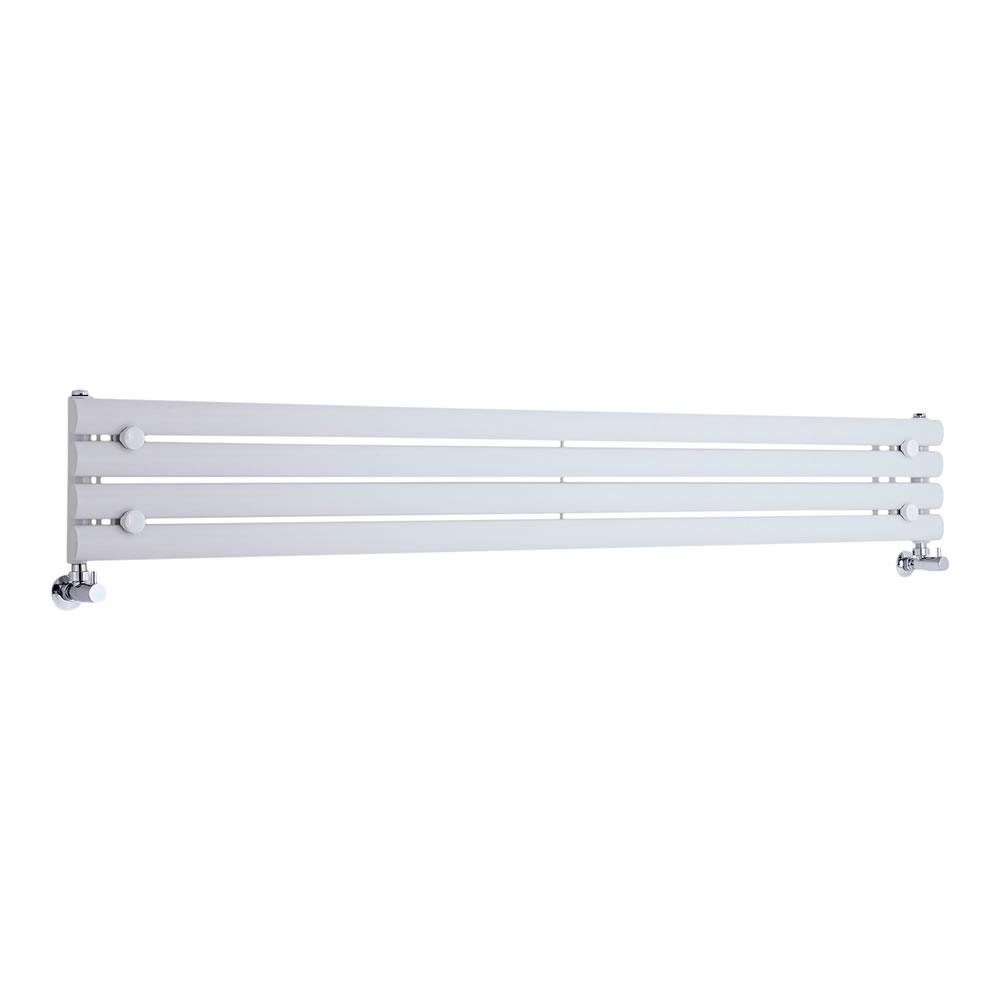 Radiateur Design Horizontal Blanc Vitality 23,6cm x 178cm x 5,5cm 647 Watts