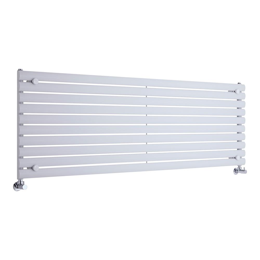 Radiateur Design Horizontal Blanc Vitality 59cm x 178cm x 5,5cm 1476 Watts