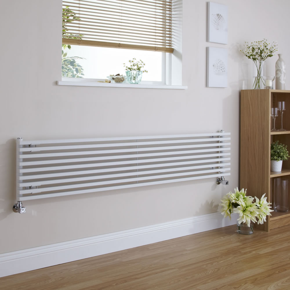 Radiateur Design Horizontal Blanc Parallel 34,2cm x 178cm x 8,4cm 1227 Watts