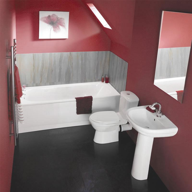 Ensemble baignoire, lavabo et toilette WC contemporain Ivo