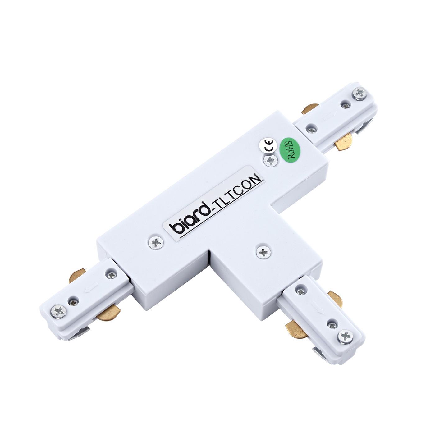 Biard Raccord en T pour rail spot LED Blanc