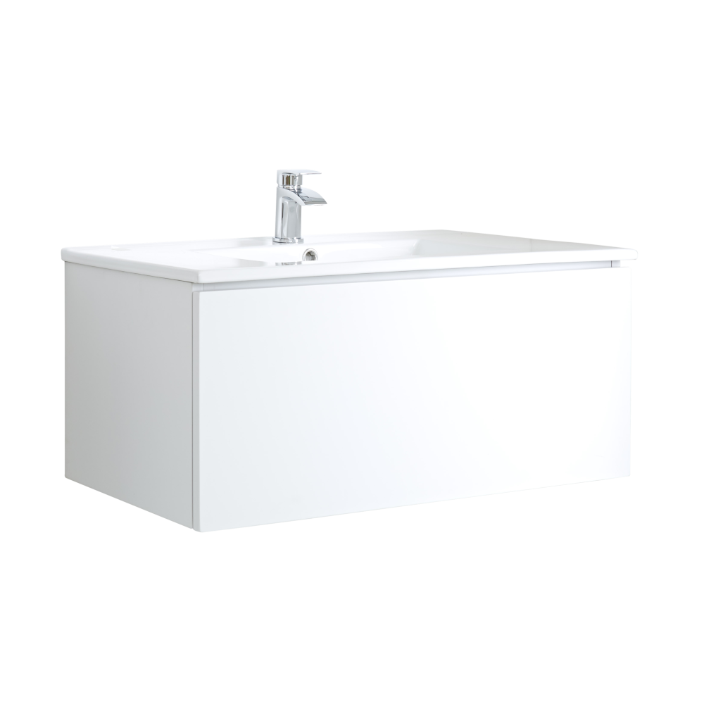 Meuble Lavabo 100cm Newington Blanc Mat