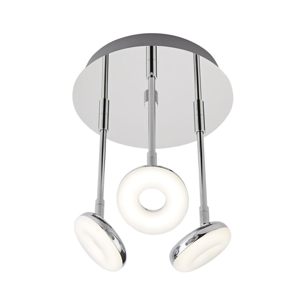 Biard Plafonnier LED Rond 16W 3 Luminaires IP44 Ø 23cm Ciambella