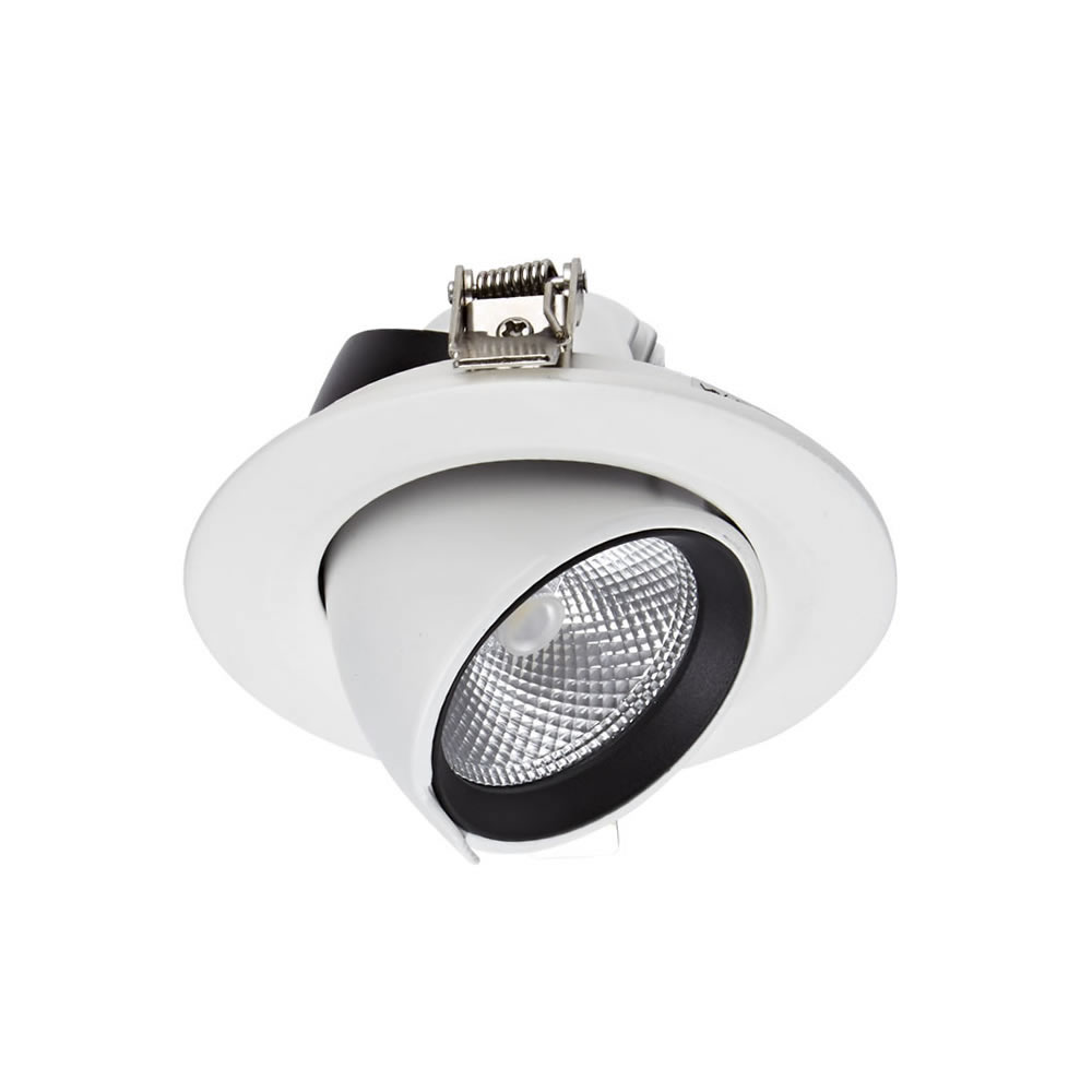 Biard Spot LED Encastrable 10 Watts Dimmable & Orientable Blanc Ø9.6cm