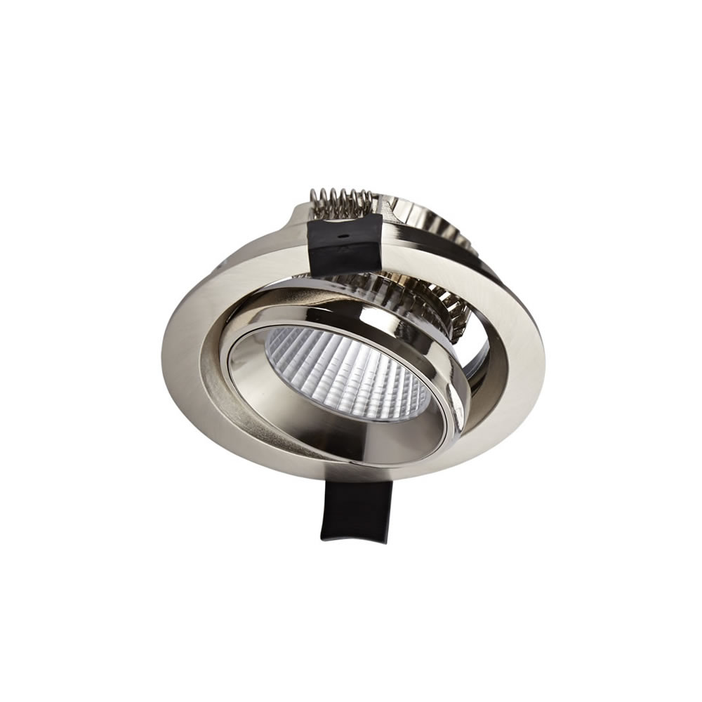 Biard Spot LED Encastrable 10 Watts Dimmable Ø10cm Nickel brossé