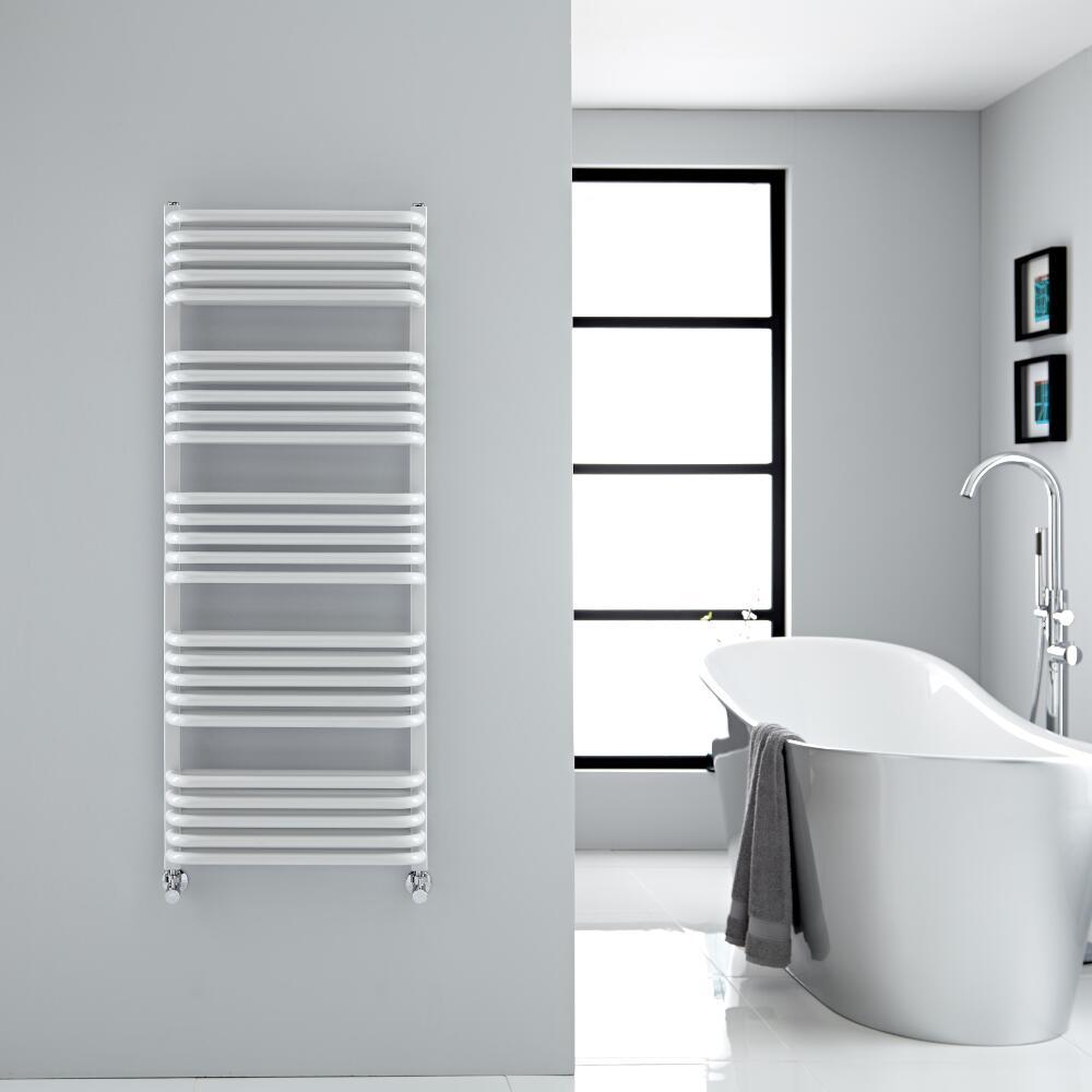 Sèche-serviettes eau chaude blanc Arch 126.9x50cm 1123 watts