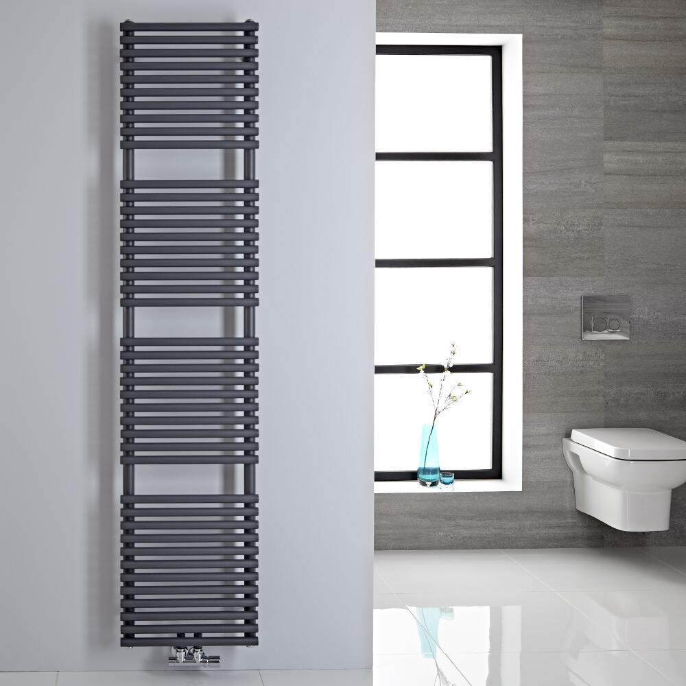 Sèche-serviettes eau chaude 180x40cm 454 watts Magera Anthracite