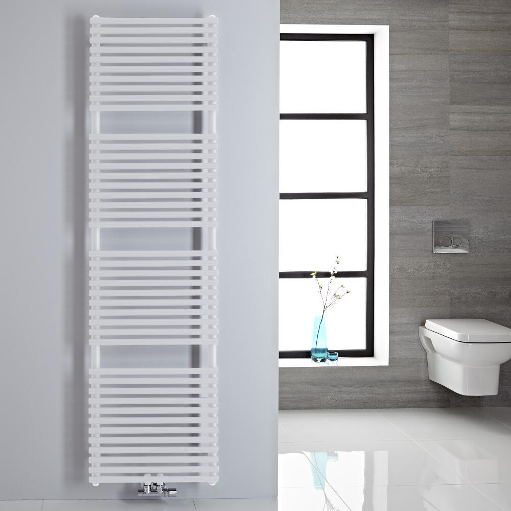 Sèche-serviettes eau chaude blanc 180x50cm 456 watts Magera