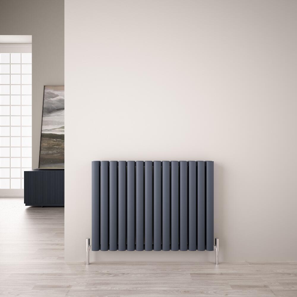 Radiateur Aluminium Design Anthracite 60 x 83cm 1609 watts Vitality Air