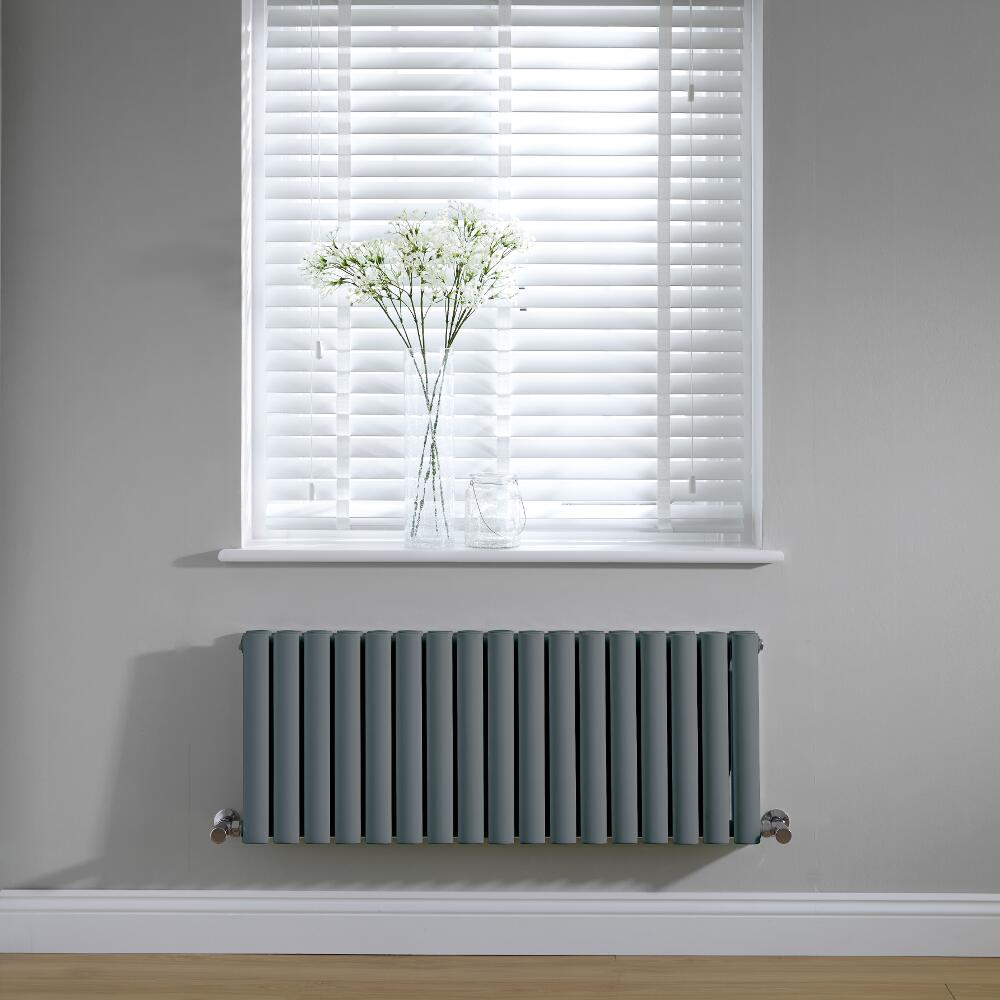 Radiateur horizontal anthracite Vitality 40 x 100cm 1052 watts