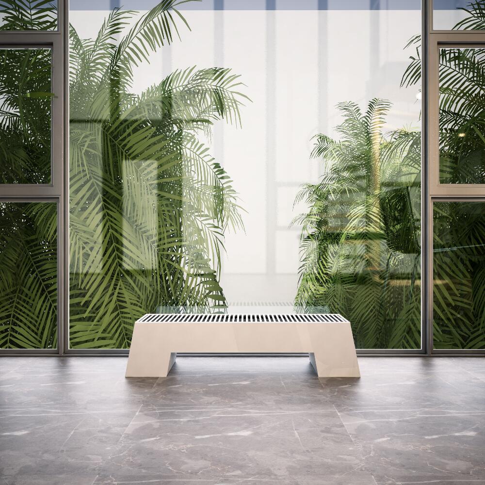 Radiateur Plinthe Blanc Adva 20 x 100 x 29,6 cm 729 watts