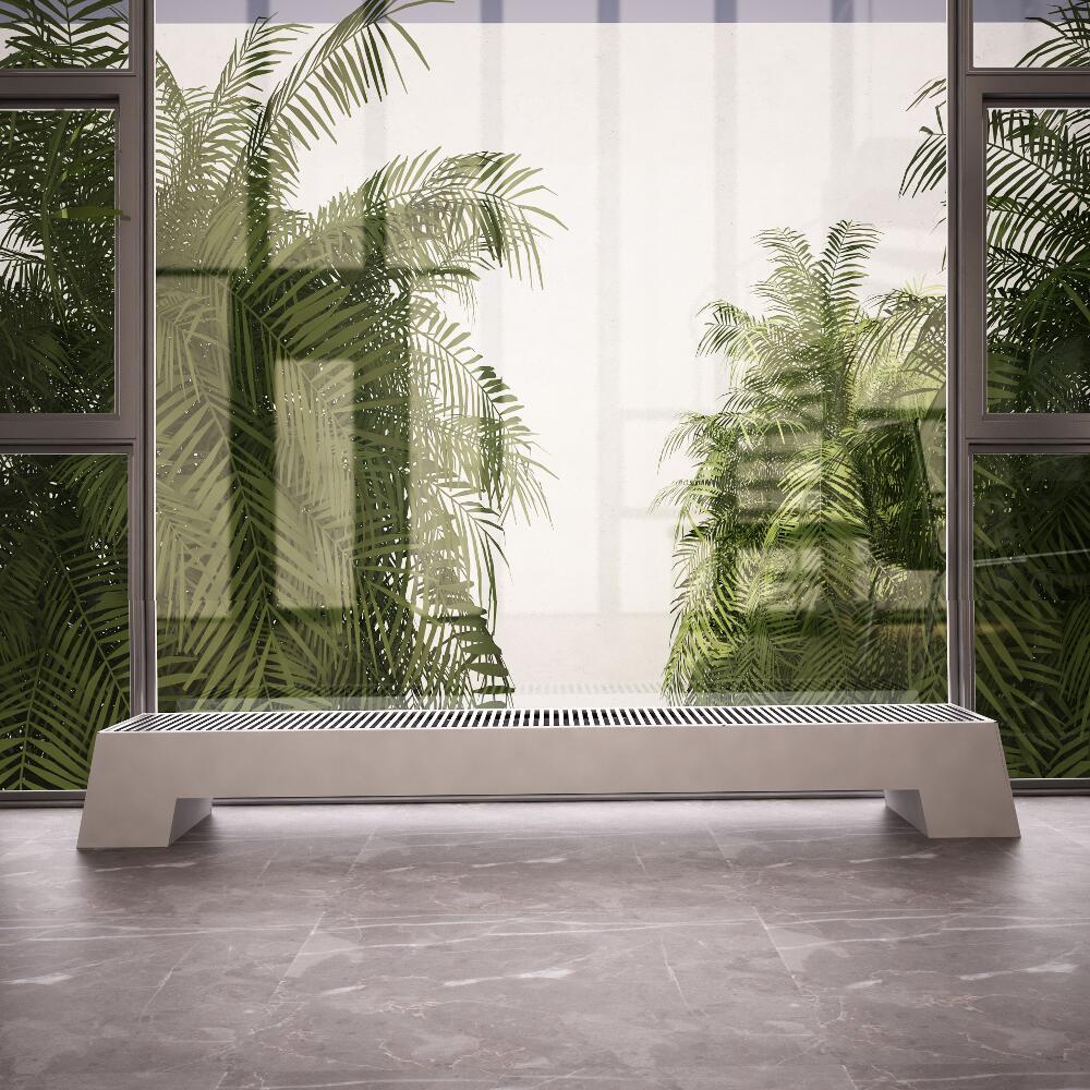 Radiateur Plinthe Blanc Adva 20 x 180 x 29,6 cm 1563 watts