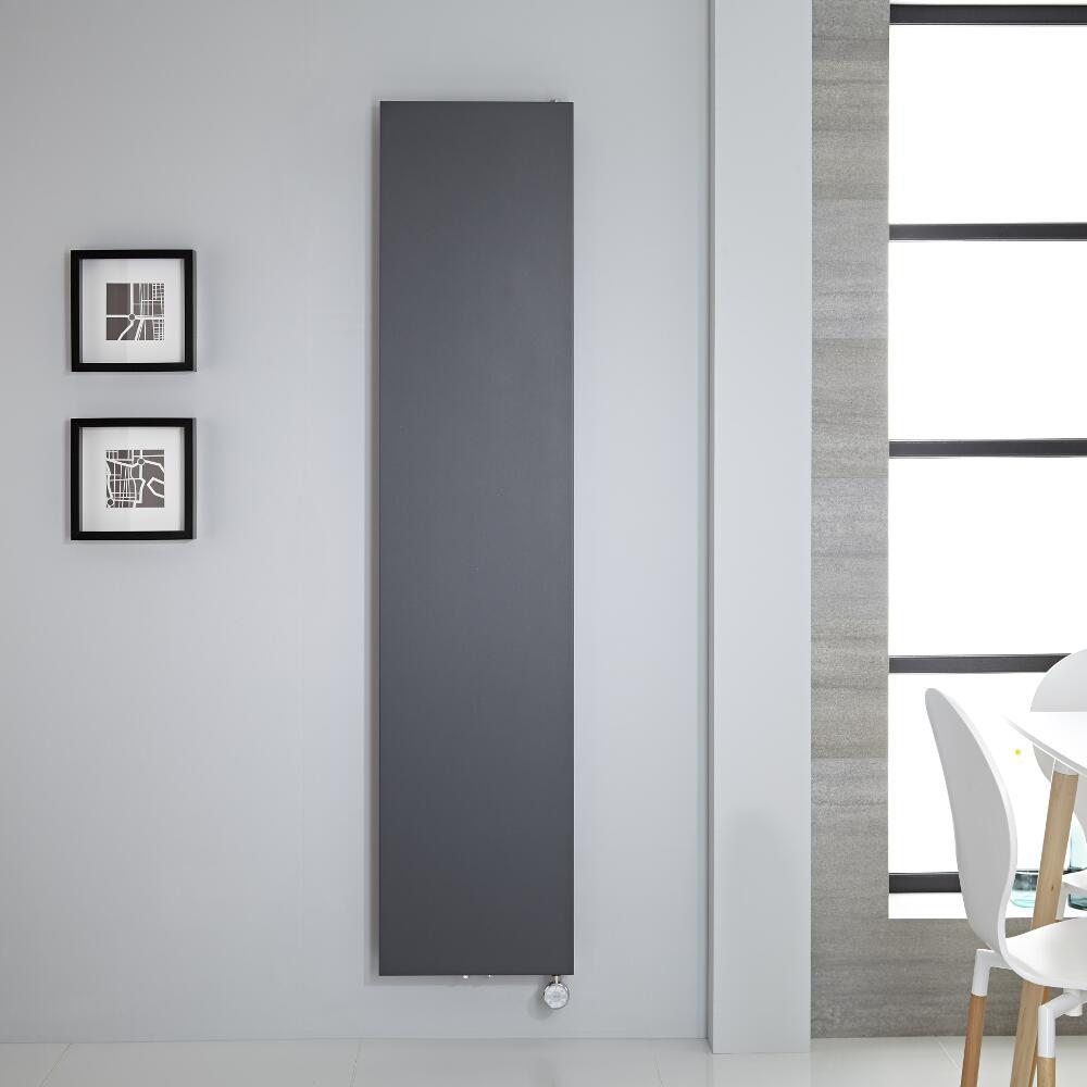 Radiateur vertical Électrique anthracite 180x40cm Rubi
