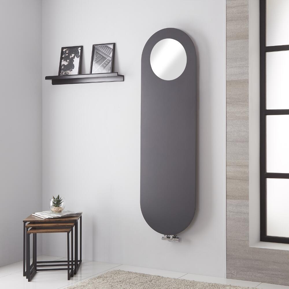 Atrani - Radiateur Vertical Avec Miroir - Anthracite - 159.5cm x 49cm - 729 watts