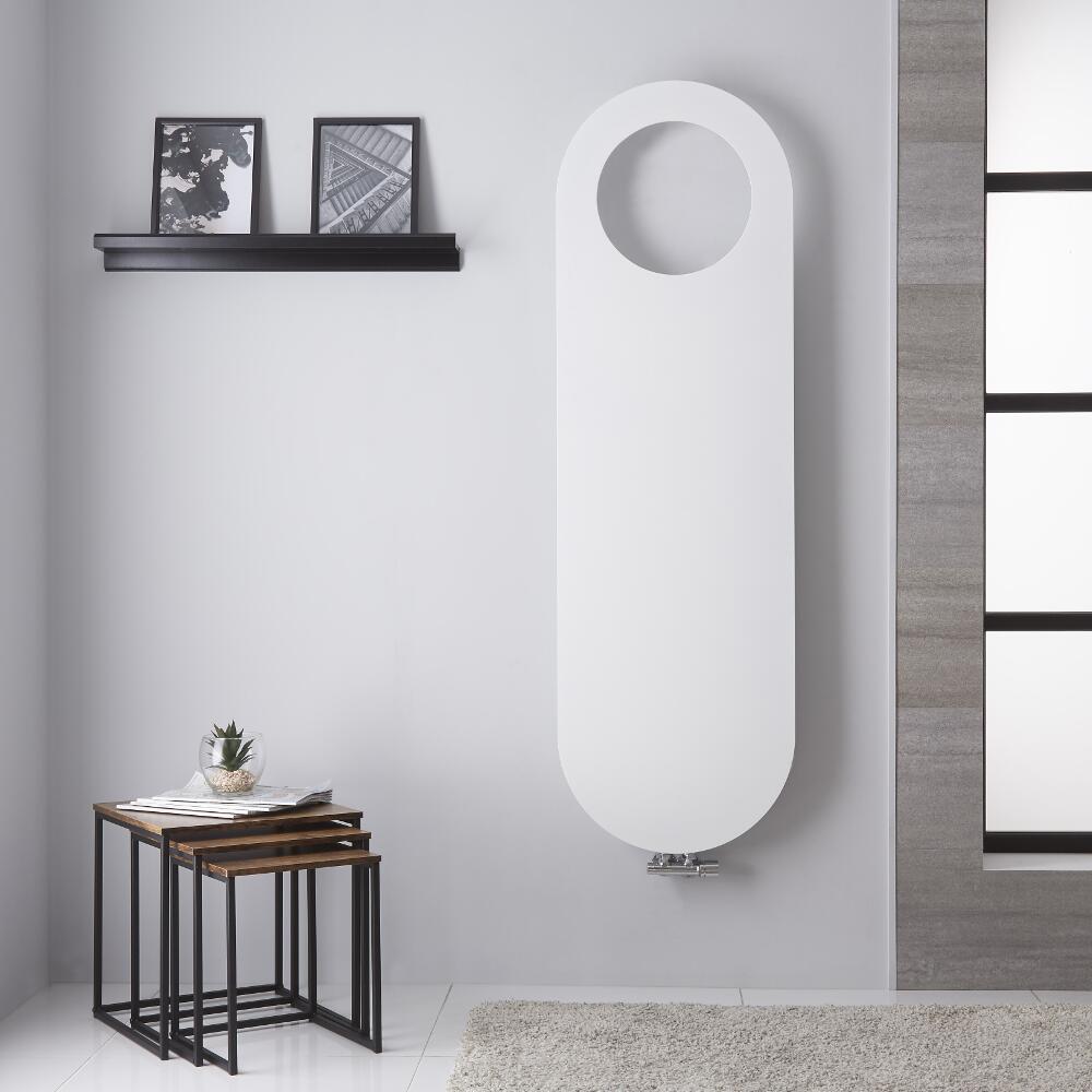 Atrani - Radiateur Vertical Design Blanc Minéral - 159.5cm x 49cm