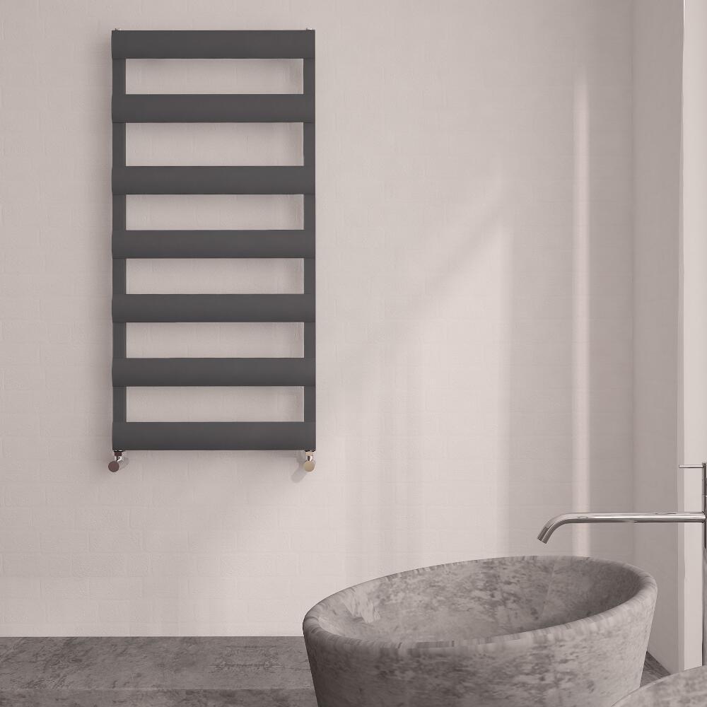 Sèche-Serviettes Aluminium Anthracite 119cm x 50cm x 3.6cm 531 Watts Ordo