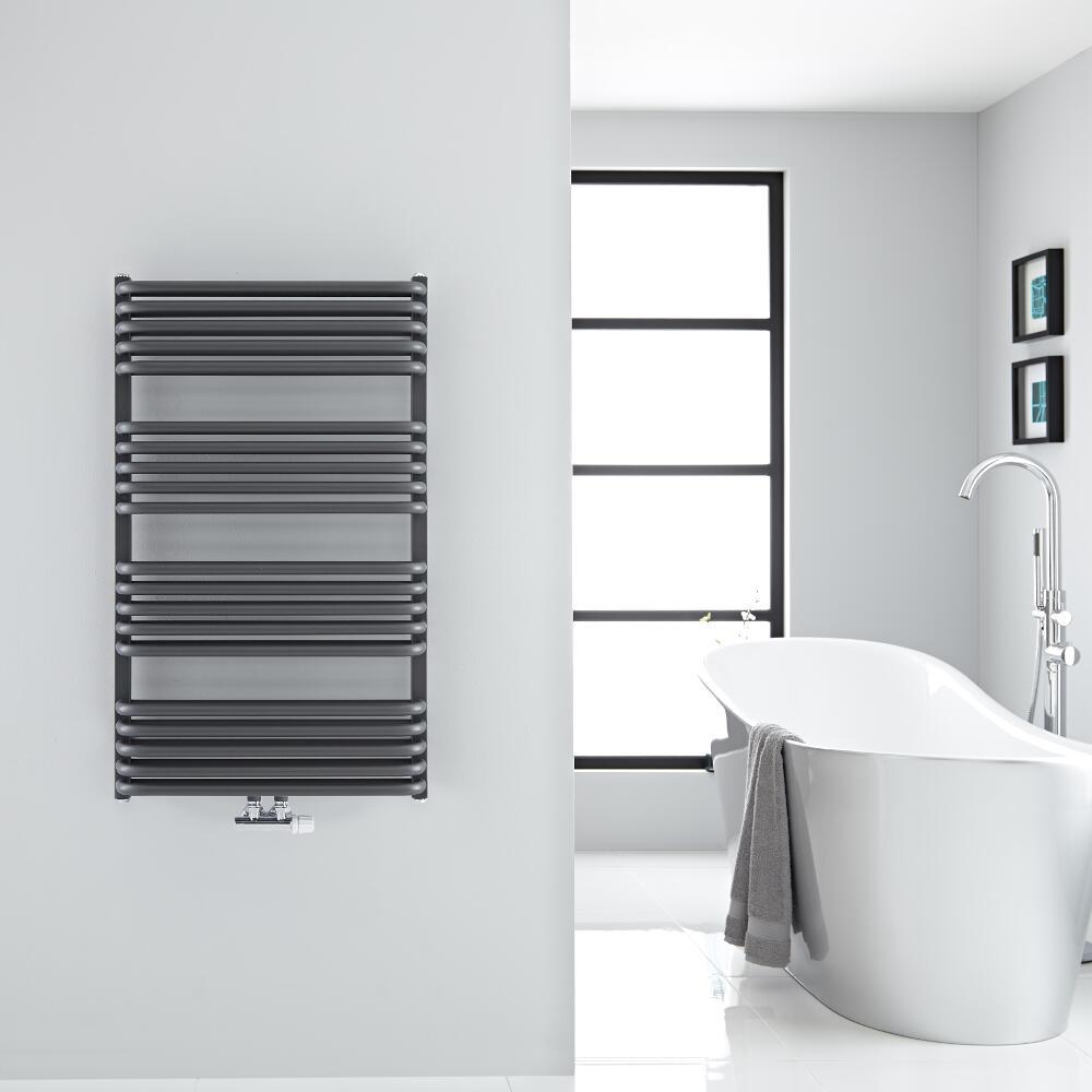 Sèche-serviettes eau chaude Arch anthracite 100x60cm 1114 watts