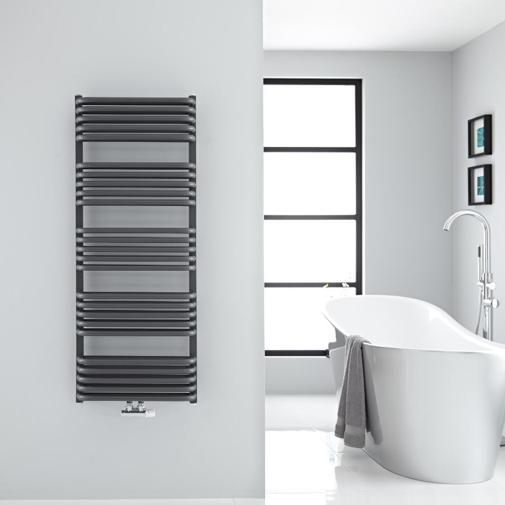 Sèche-serviettes eau chaude Arch anthracite 126.9x50cm 1123 watts