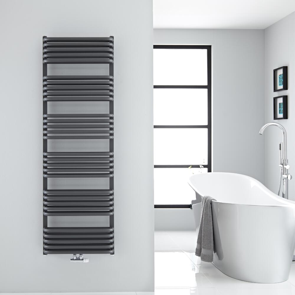 Sèche-serviettes eau chaude Arch anthracite 153.3x50cm 1524 watts