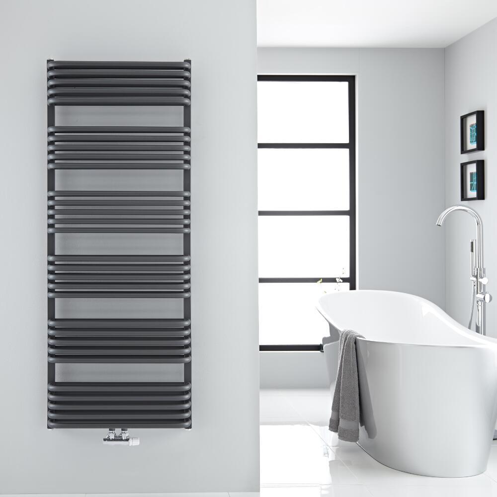 Sèche-serviettes eau chaude Arch anthracite 153.3x60cm 1818 watts