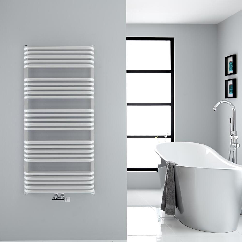 Sèche-serviettes eau chaude blanc Arch 126.9x60cm 1338 watts
