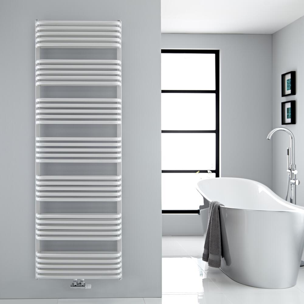 Sèche-serviettes eau chaude blanc Arch 180x60cm 2083 watts