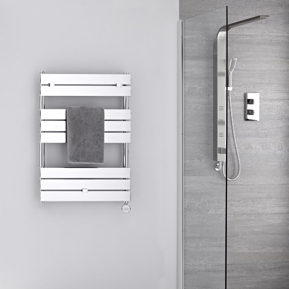 Sèche-serviettes électrique Chromé 84 x 60cm Lustro