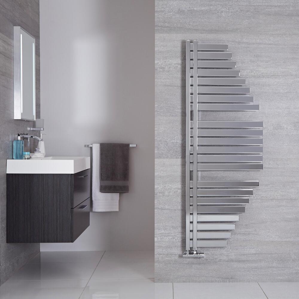 Lazio - Sèche-serviettes Design Chromé - 146cm x 54.7cm