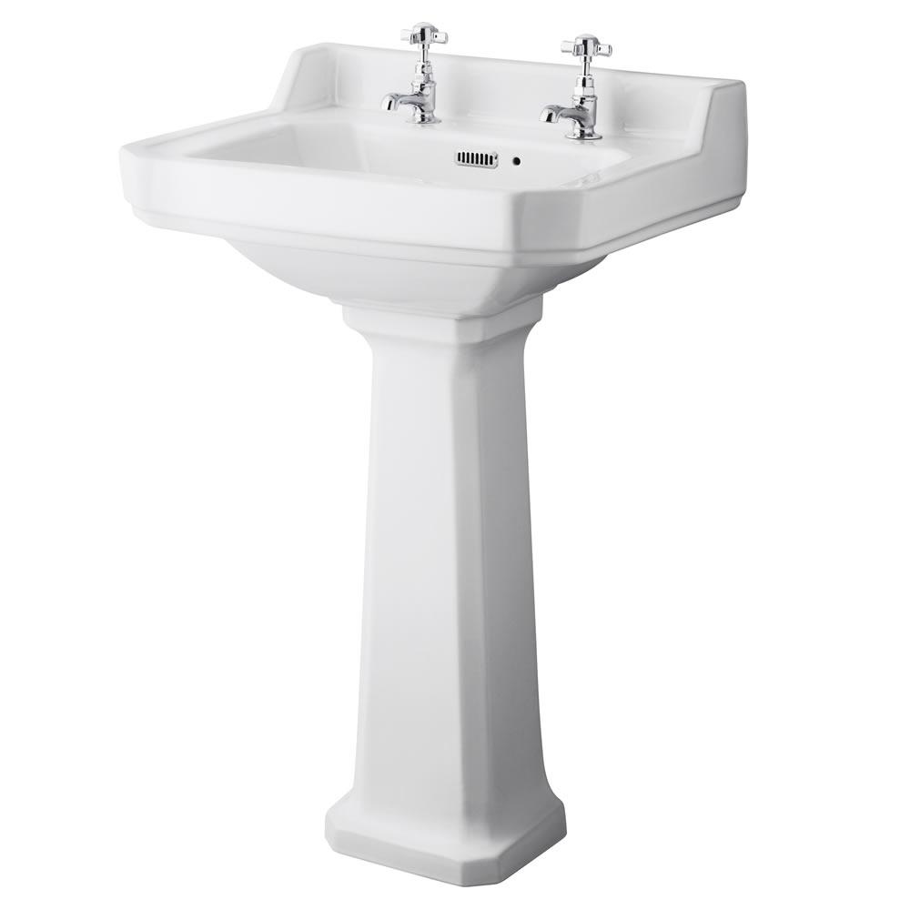 Lavabo 56cm & WC Rétro Abattant au choix