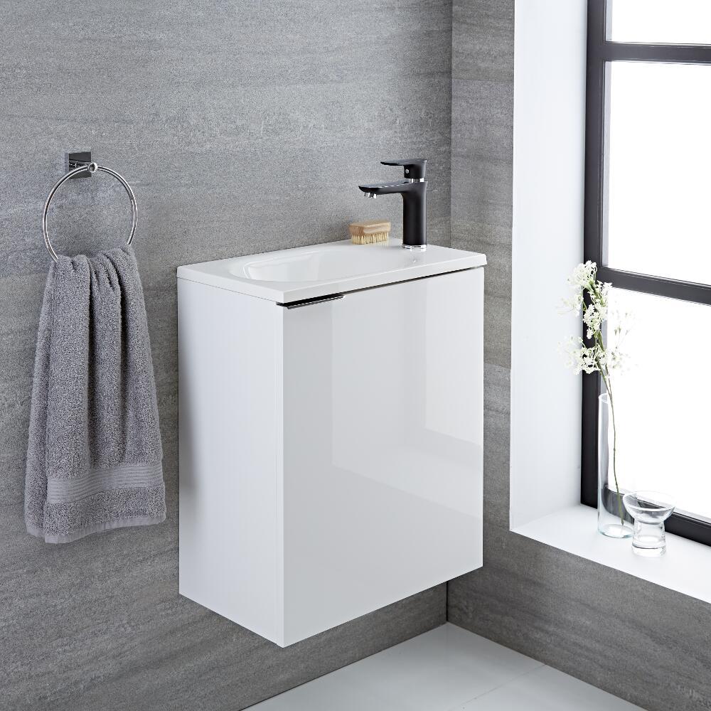 Meuble-lavabo 50x30x60cm Randwick Blanc laqué