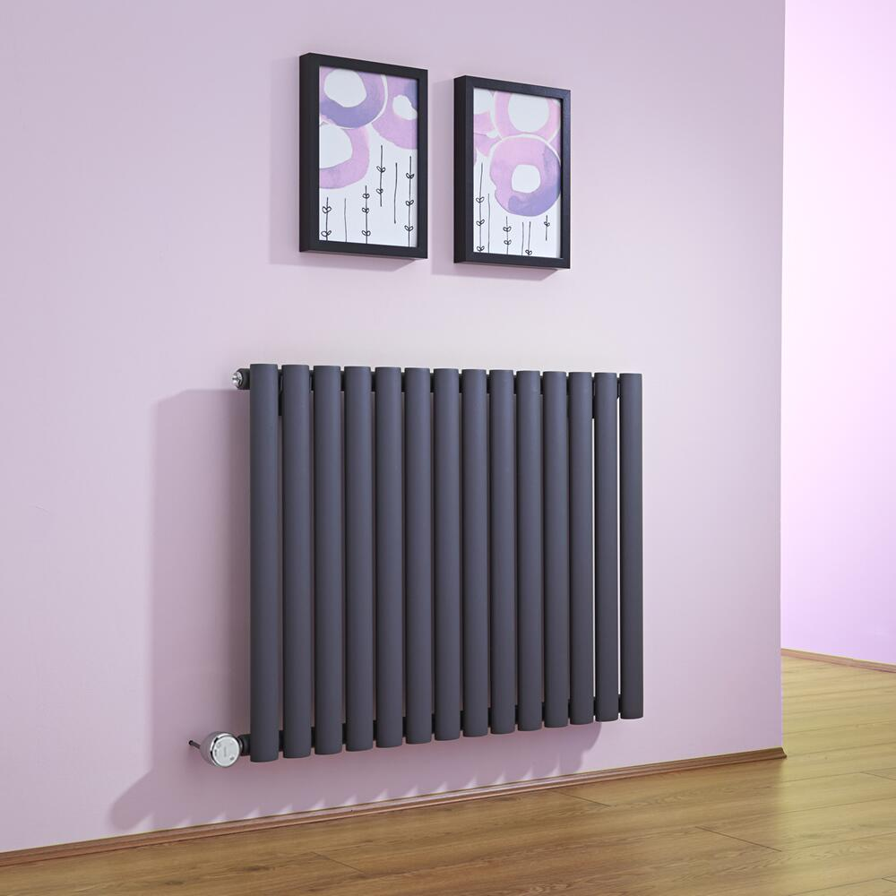 radiateur design lectrique horizontal anthracite vitality 63 5cm x 83 4cm x 5 6cm. Black Bedroom Furniture Sets. Home Design Ideas