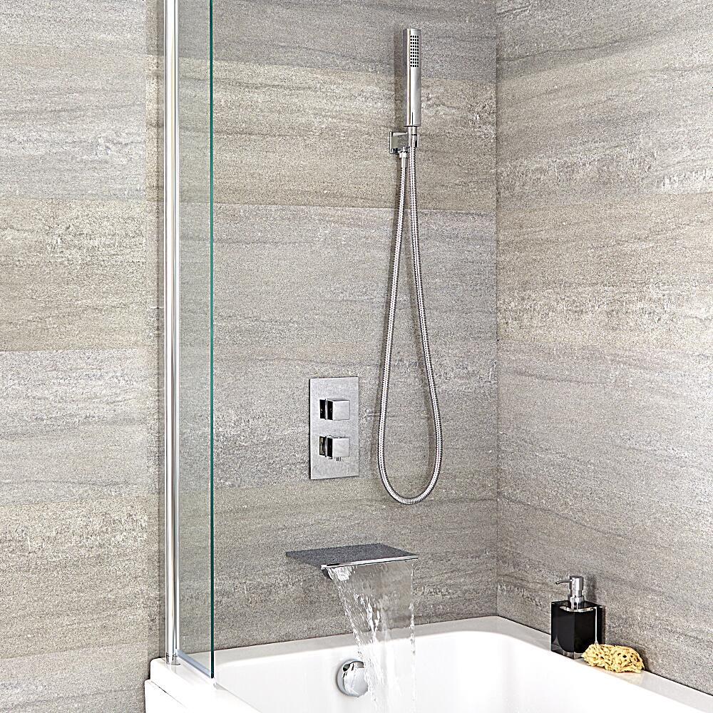 mitigeur bain douche thermostatique encastrable bec cascade douchette. Black Bedroom Furniture Sets. Home Design Ideas
