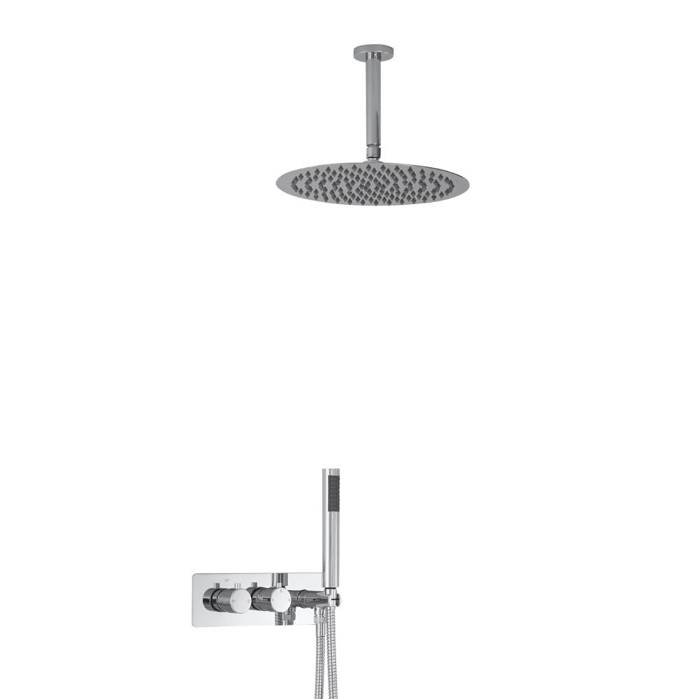 Kit Douche Encastrable Pommeau Plafond Rond Ø 30cm & Douchette Mirage