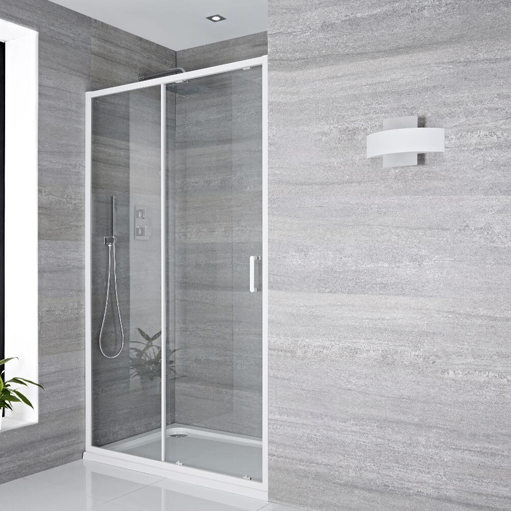 Porte de douche Coulissante 170x195cm Lux Blanc