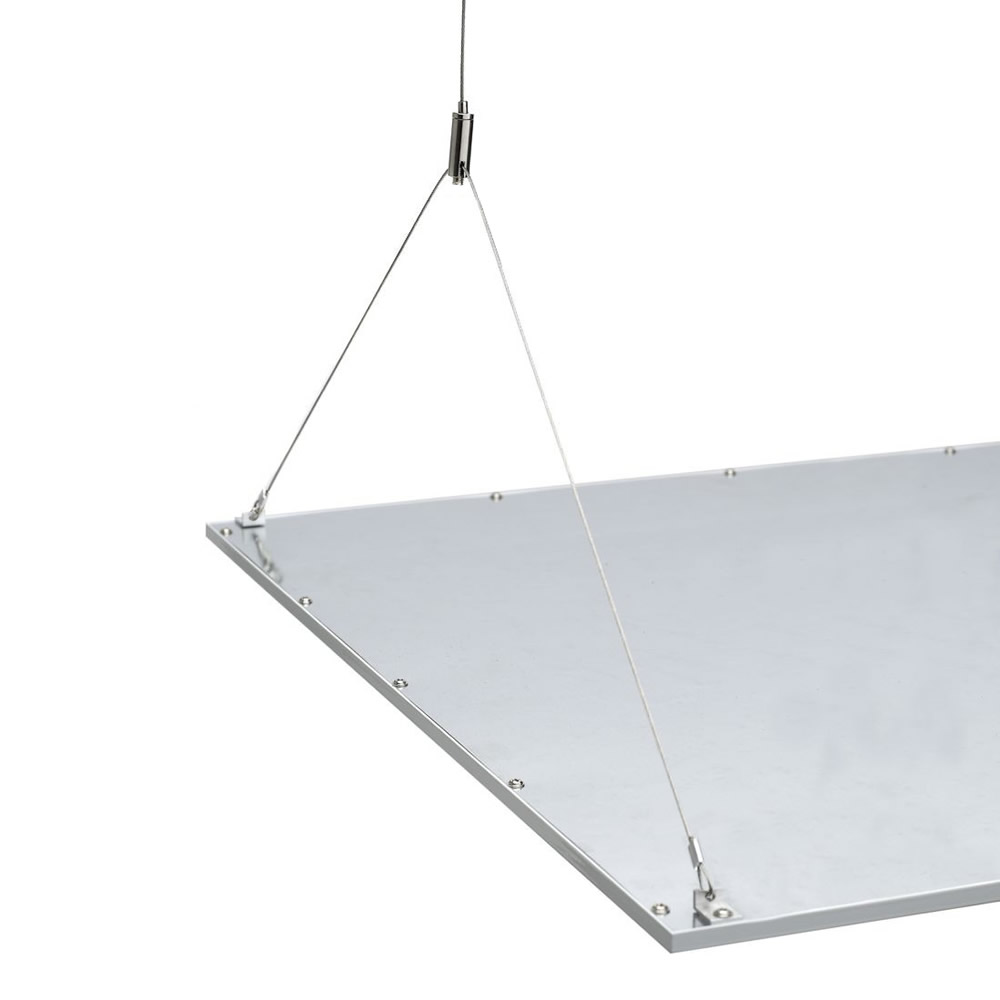 Biard Câble tendu pour Plafonnier LED 60x60cm - Lot de 4