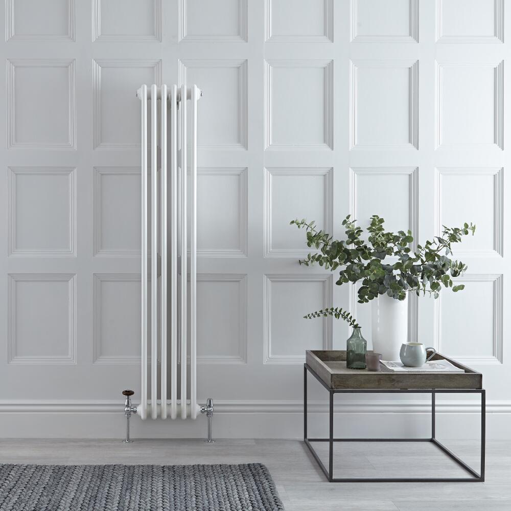 Radiateur Vertical Style Fonte Blanc Windsor 150cm x 29,3cm x 10cm 1041 Watts