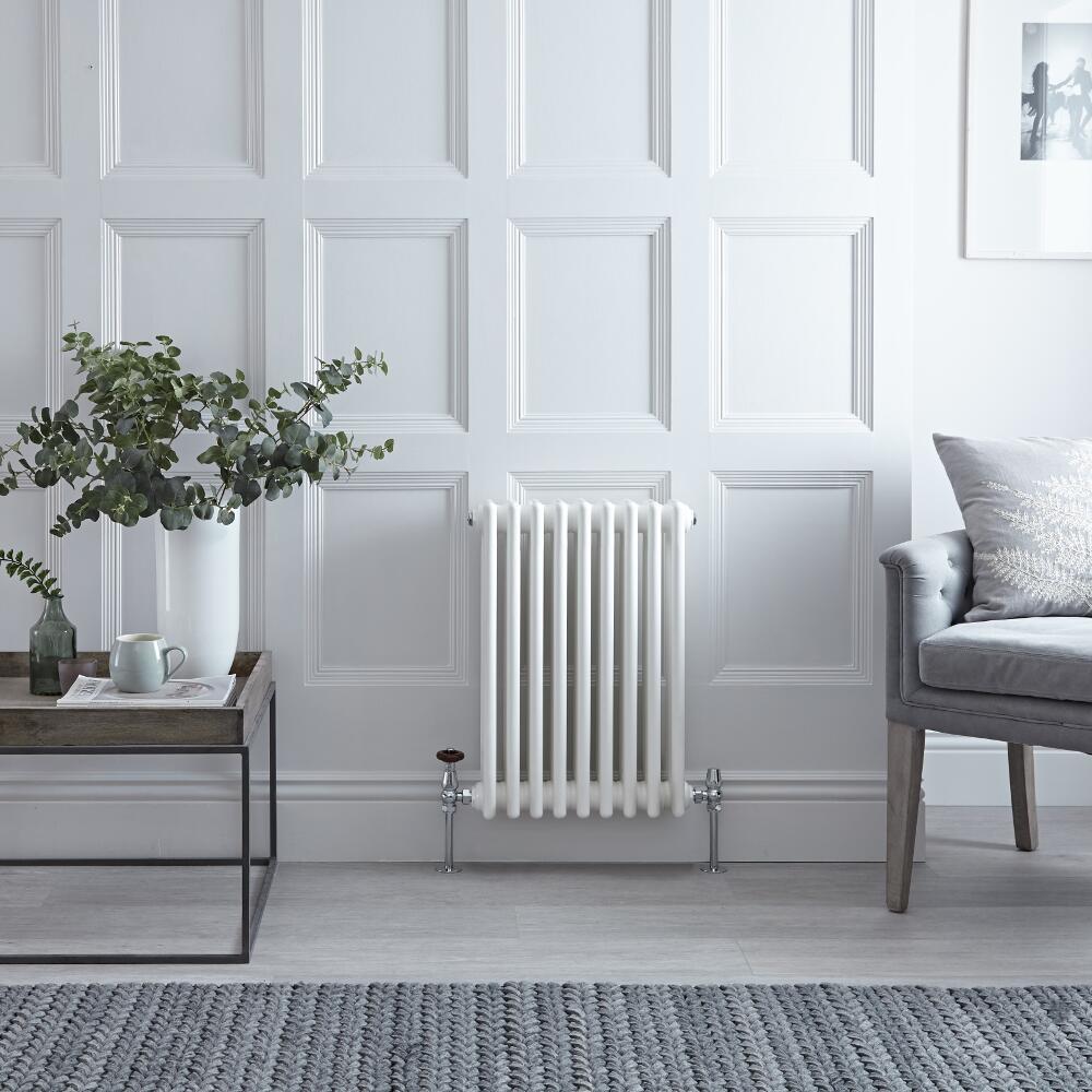 Radiateur Horizontal Style Fonte Blanc Windsor 60cm x 40,5cm x 10cm 721 Watts