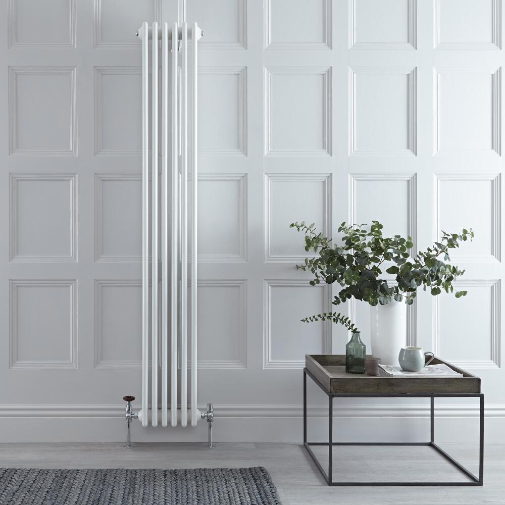 Radiateur Vertical Style Fonte Blanc Windsor 180cm x 27cm x 13,3cm 1615 Watts